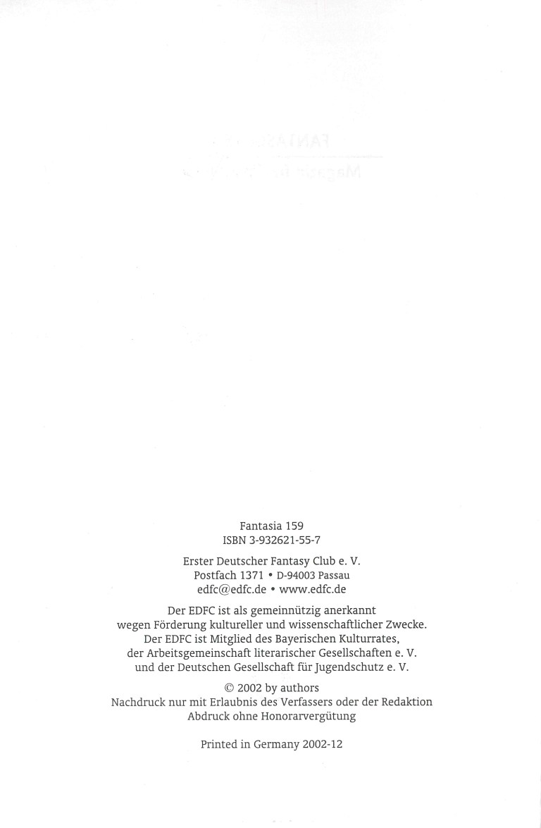 Fantastia 159 - TitelcoverFantastia 159 - Impressum
