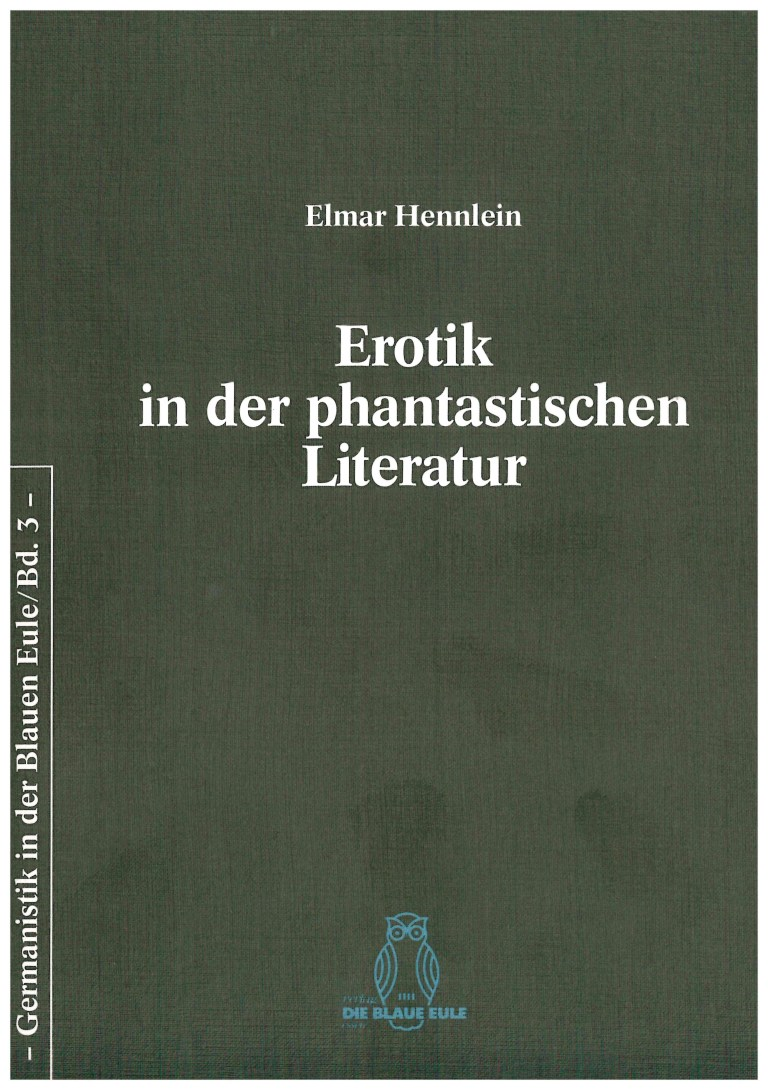Erotik in der phantastischen Literatur - Titelcover