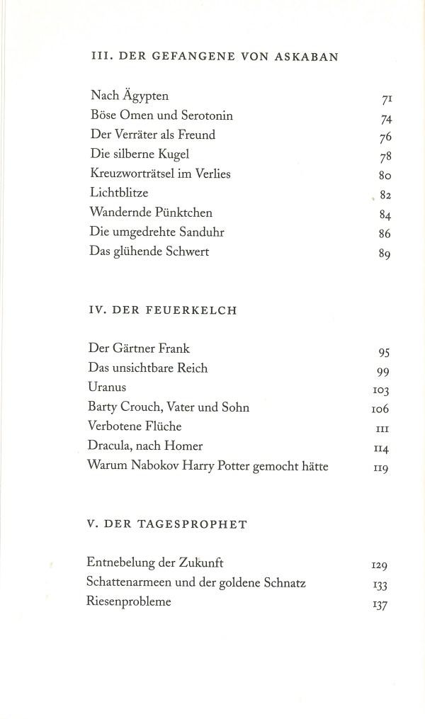 Warum Nabokov Harry Potter gemocht hätte - Inhalt Seite 2