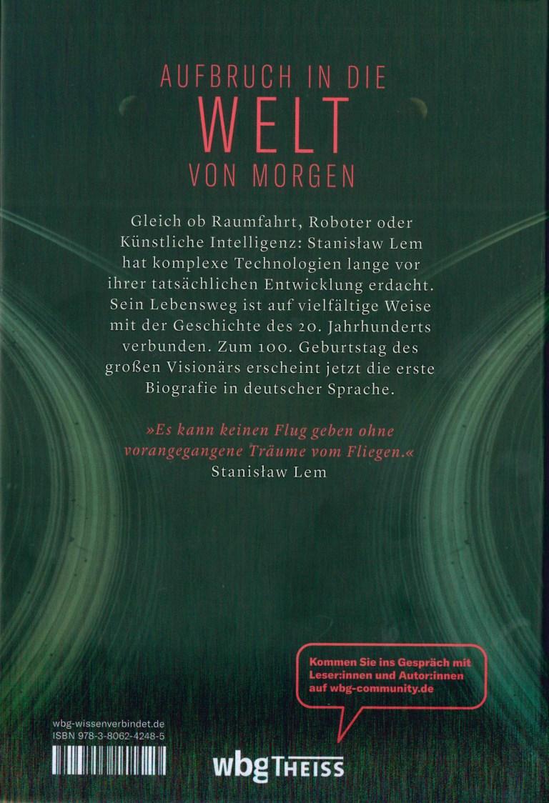 Stanislaw Lem-Leben in der Zukunft - Rückencover
