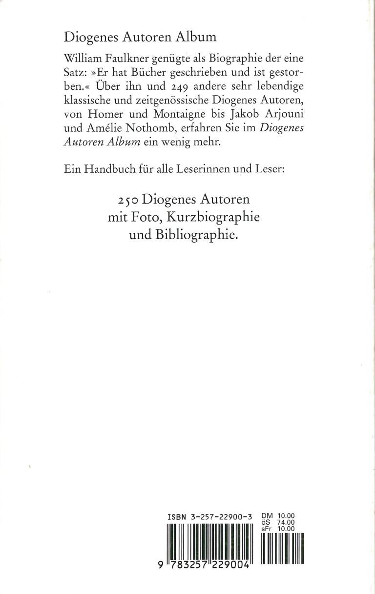 Diogenes Autoren Album - Rückencover