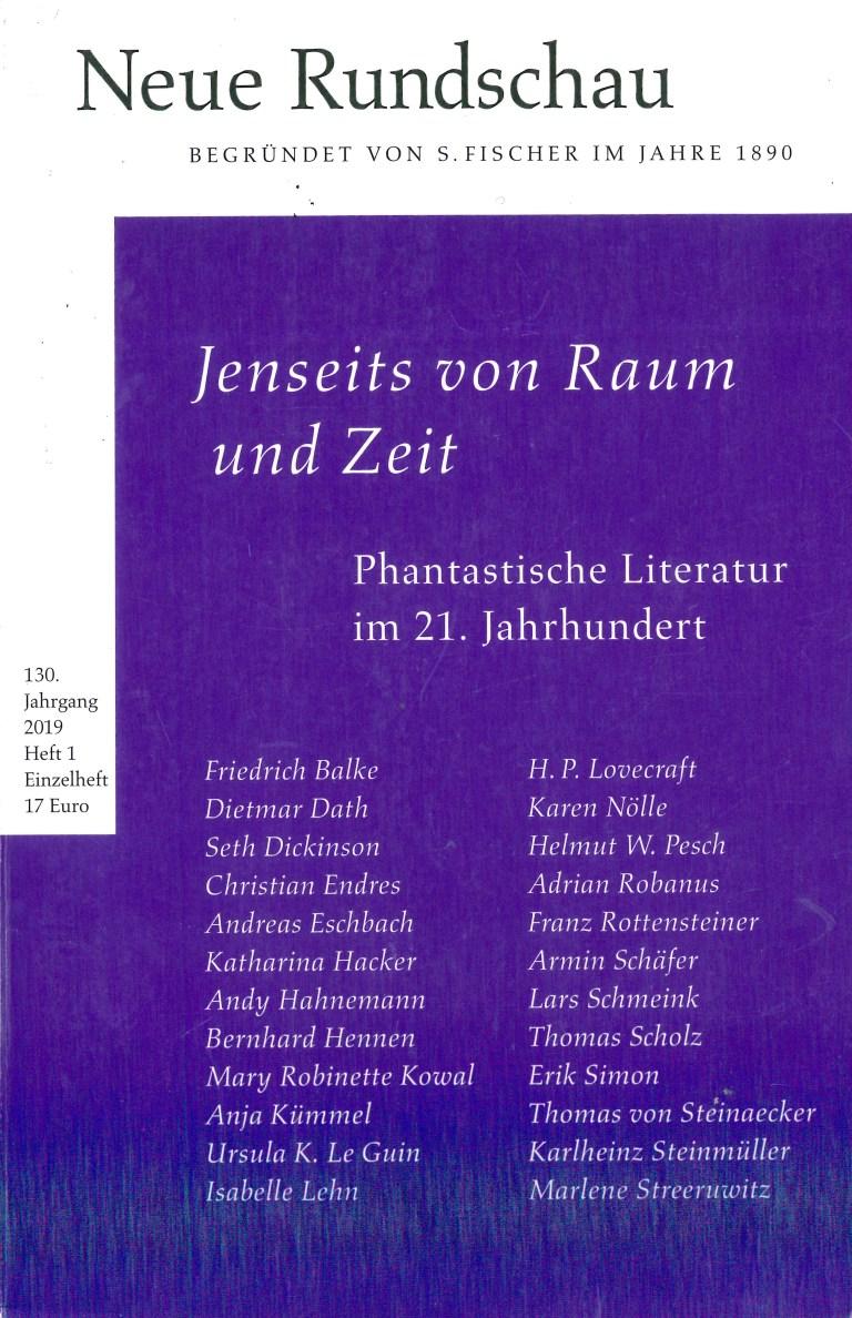 NEue Rundschau, Heft 1, 2019 - Titelcover