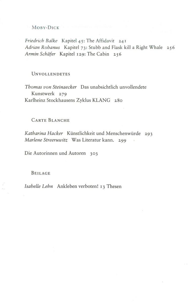 NEue Rundschau, Heft 1, 2019 - Inhalt Seite 2