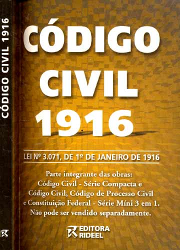 Livro  Cdigo Civil 1916  Sebo do Messias