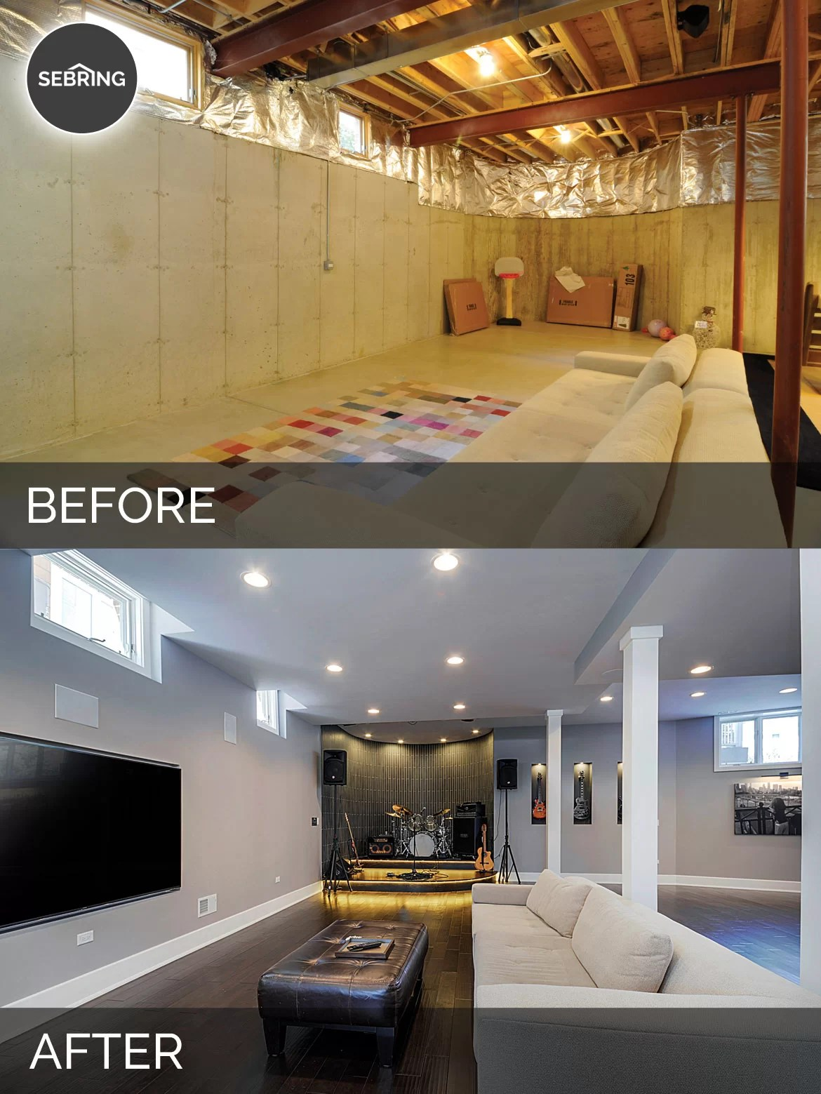 Sidd Amp Nisha S Basement Before Amp After Pictures