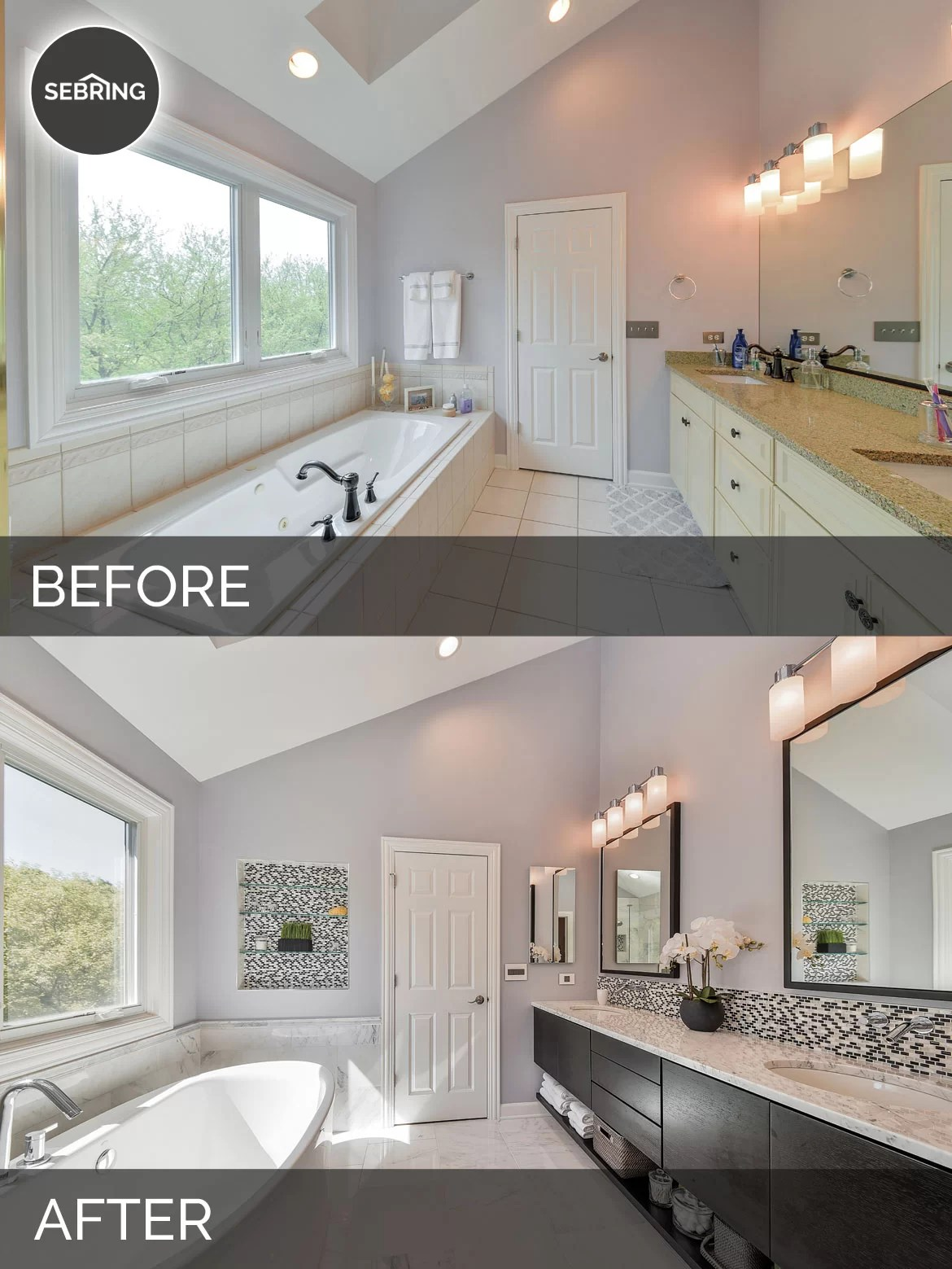 Doug  Natalies Master Bath Before  After Pictures