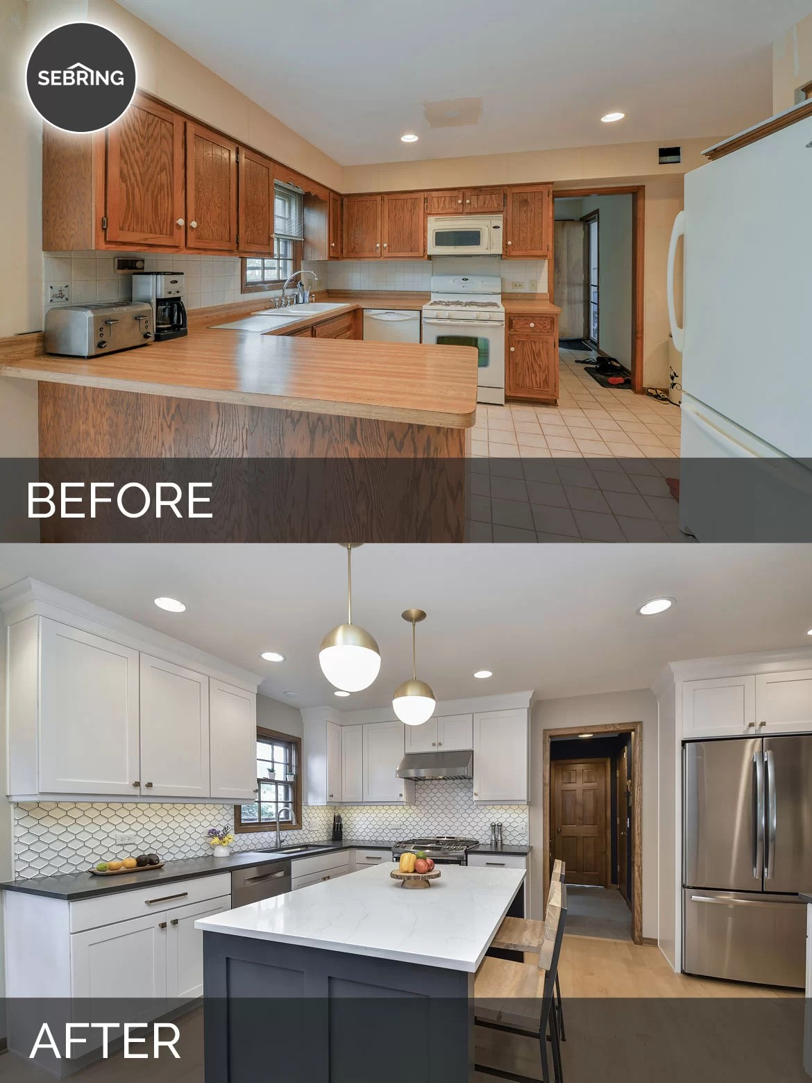 kitchen design naperville hinges justin & carina's before after pictures | home ...