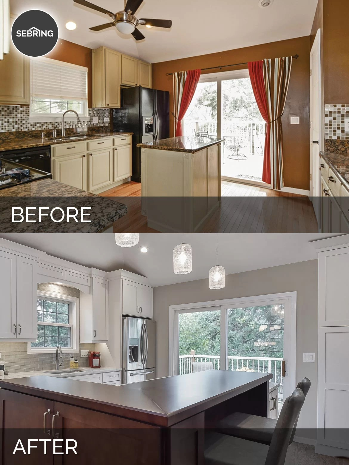 Bill  Carols Kitchen Before  After Pictures  Home Remodeling Contractors  Sebring Design Build