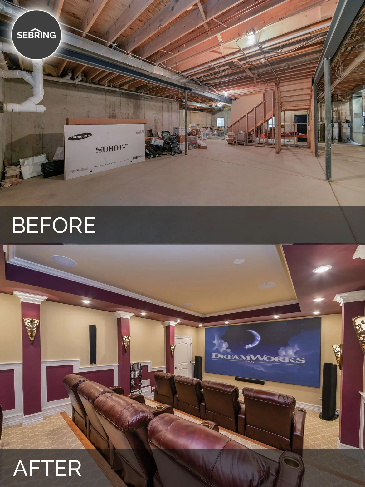 Sujith  Vinitas Basement Before  After Pictures  Home