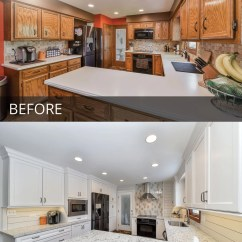 Kitchen Design Naperville Eat At Island Don & Kathy's Before After Pictures | Home ...