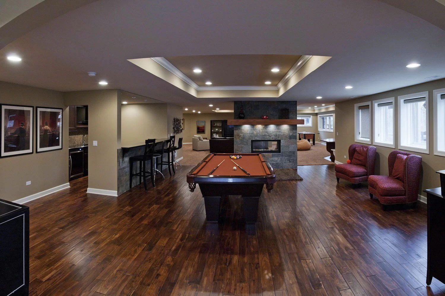 Chad & Michelle&39;s Basement Remodel Pictures   Luxury Home Remodeling   Sebring Design Build