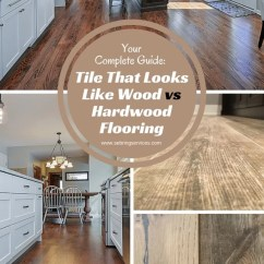 Wood Tile Floor Kitchen Cabinet Veneer That Looks Like Vs Hardwood Flooring Home Remodeling Sebring Services