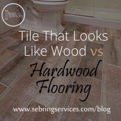 Tile Flooring Kitchen Pet Friendly Hotels With Kitchens That Looks Like Wood Vs Hardwood Home Remodeling Sebring Services