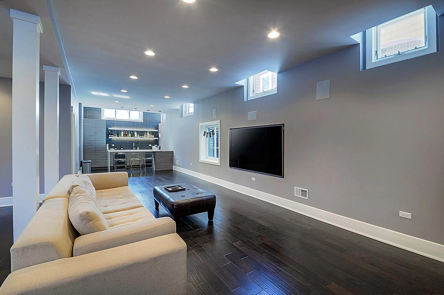 Sidd  Nishas Basement Remodel Pictures  Home Remodeling