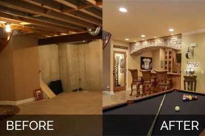 Brian  Danicas Basement Before  After Pictures  Home