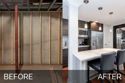 wellborn kitchen cabinets houzz lighting doug & natalie's basement before after pictures | home ...