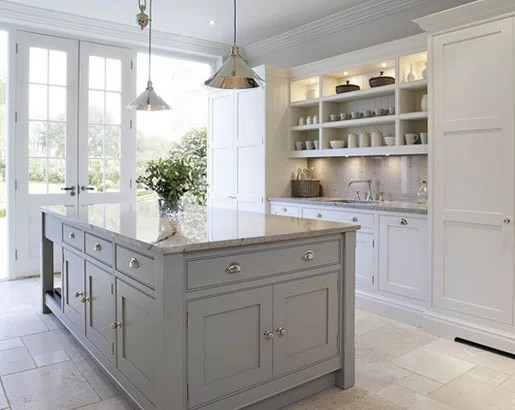 kitchen cabinets white shelf ideas the psychology of why gray are so popular home grey sebring services