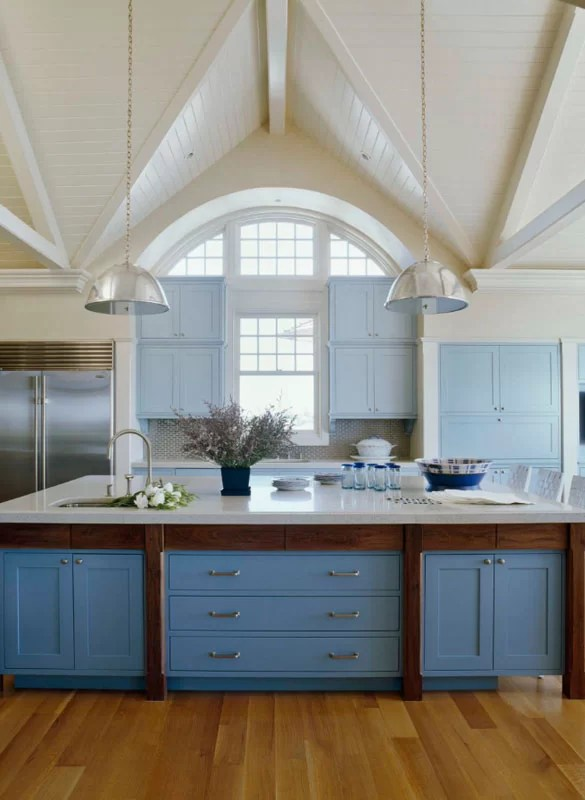 blue kitchen island curtains and valances design trend cabinets 30 ideas to get you started sebring services
