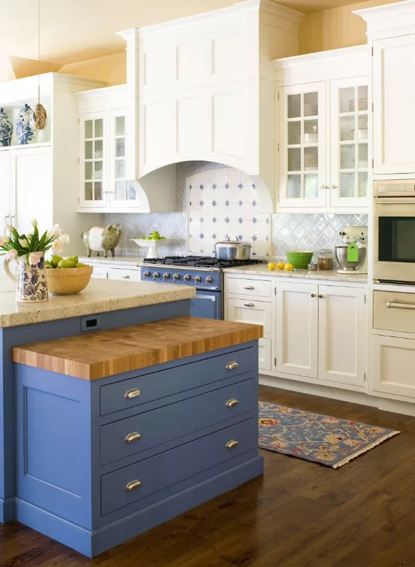 Design Trend Blue Kitchen Cabinets & 30 Ideas To Get You Started