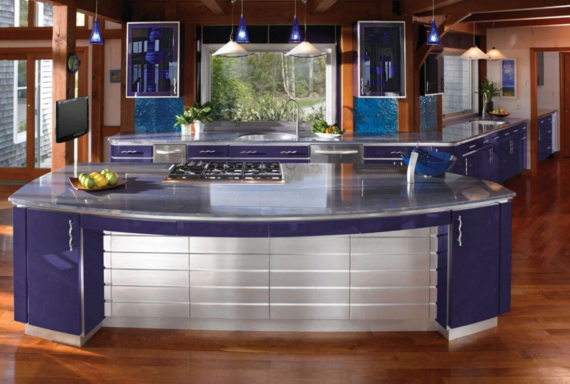 blue kitchen countertops tile decals design trend cabinets and 30 ideas to get you