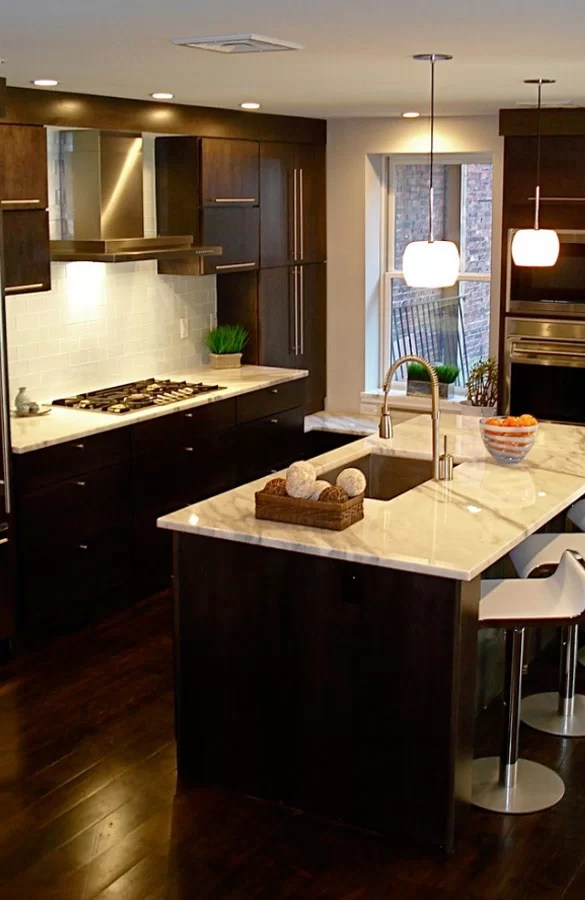 dark kitchen floors shelves 30 classy projects with cabinets home remodeling sebring services
