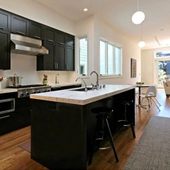 Kitchen Black Cabinets Engineered Wood Flooring 30 Classy Projects With Dark Home Remodeling Sebring Services
