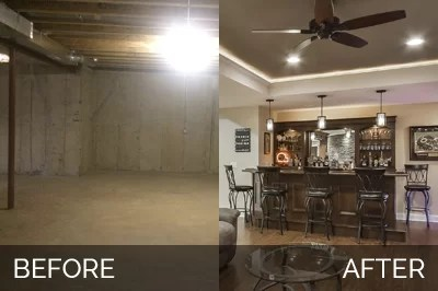 tile kitchen countertops booth ideas brian & kelli's basement before after pictures | home ...