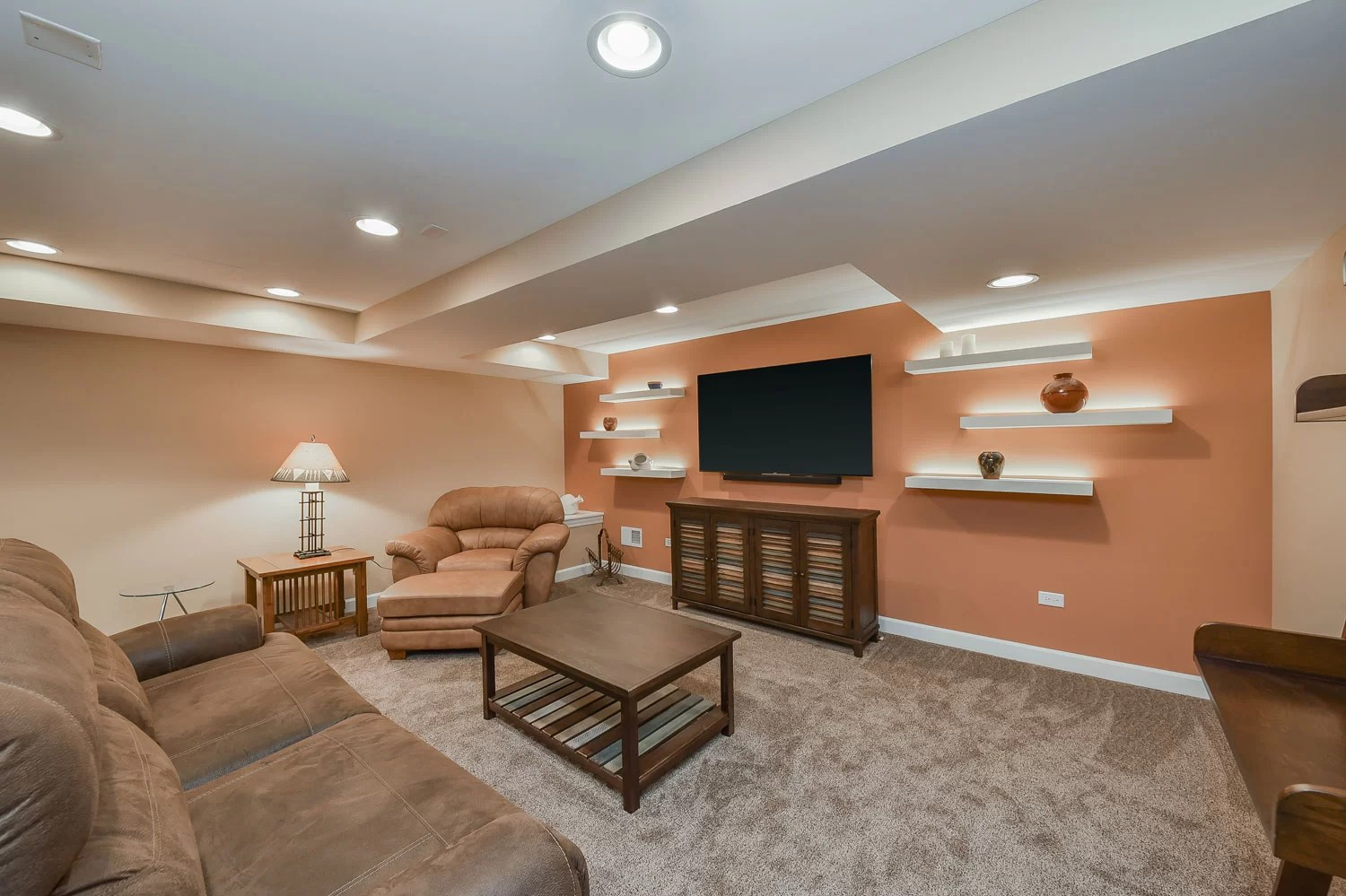 Caroles Basement Remodel Pictures  Home Remodeling