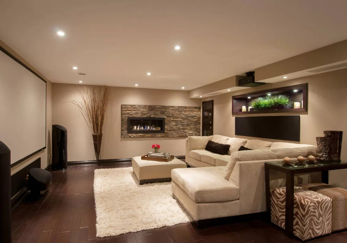 basement living rooms big rugs for room 50 modern ideas to prompt your own remodel home sebring services