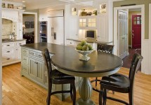 Round Kitchen Island with Seating