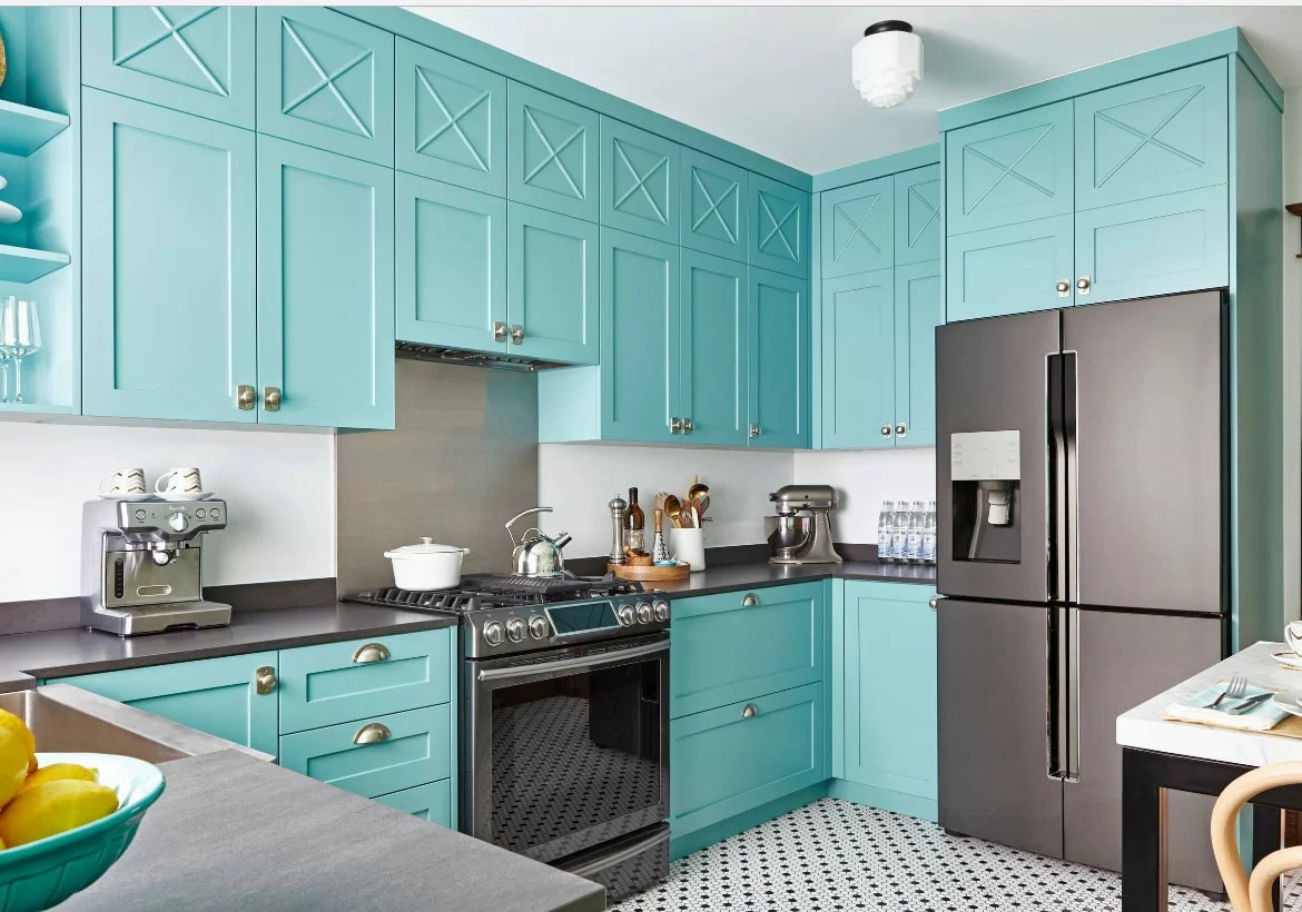 colored kitchen appliances create layout colors new exciting trends home remodeling