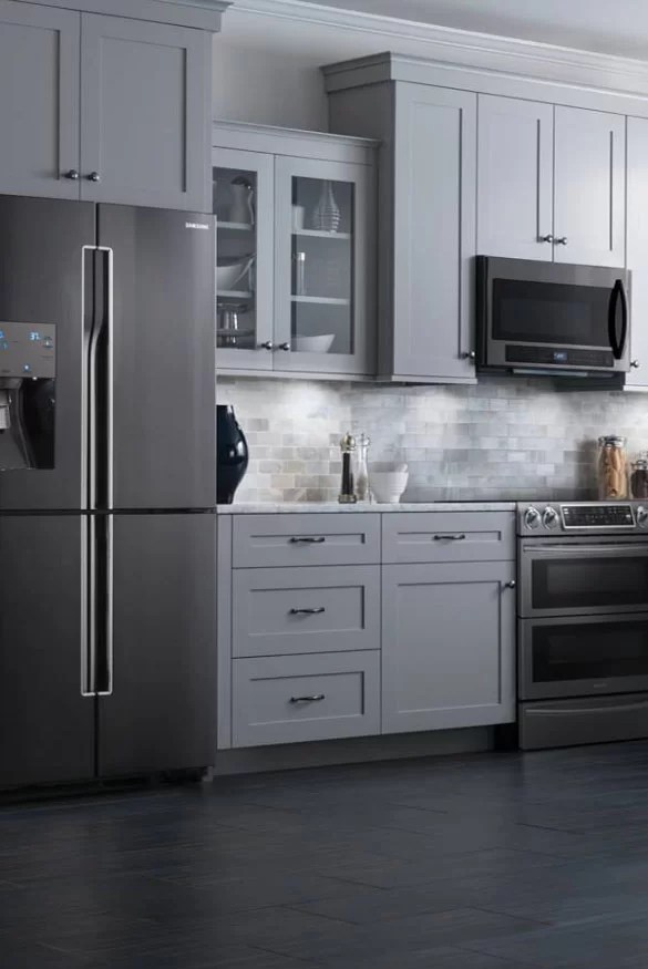 black kitchen appliances long table colors new exciting trends home remodeling