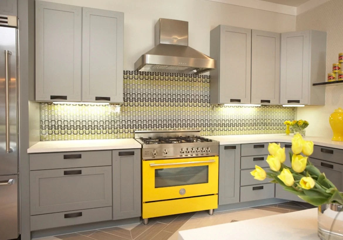 yellow kitchen appliances antique white island colors new and exciting trends home