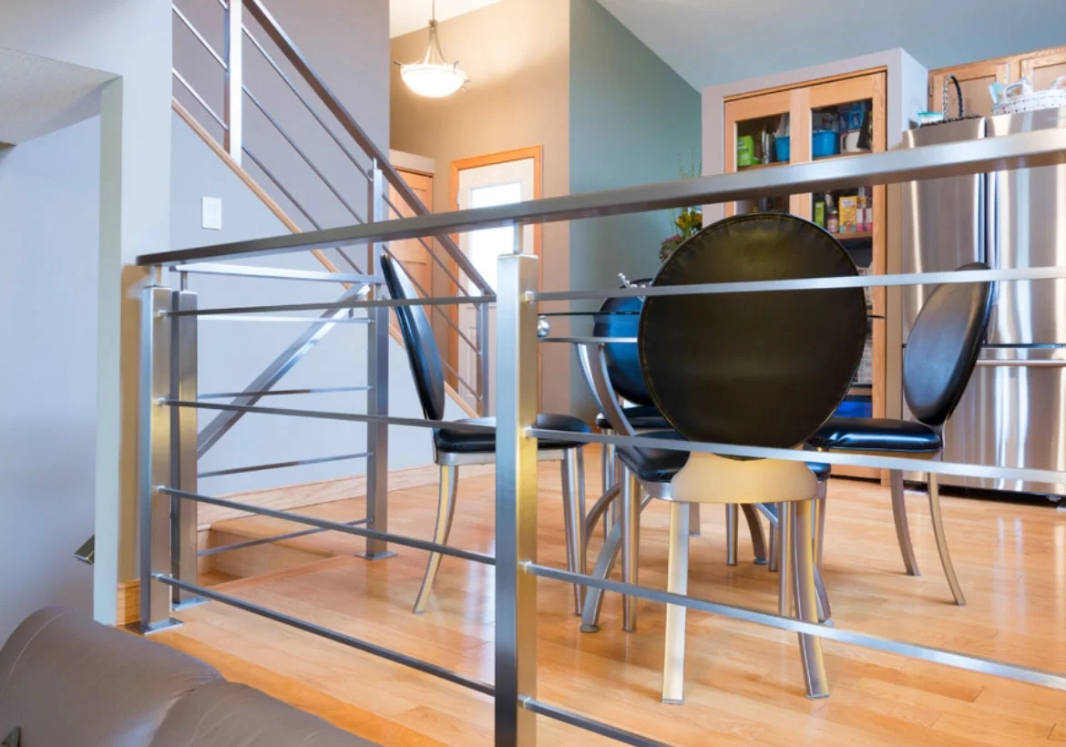 95 Ingenious Stairway Design Ideas For Your Staircase Remodel   Industrial Stair Railing Design   Structural Steel Modern   Detail Industrial   Horizontal   Custom Metal   Ancient