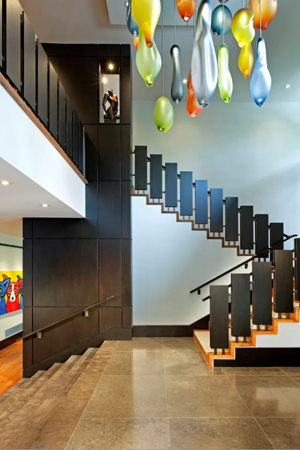 95 Ingenious Stairway Design Ideas For Your Staircase Remodel | Interior Design For Staircase Wall | Side Wall | Cladding | Outside | 2Nd Floor | Under Stair