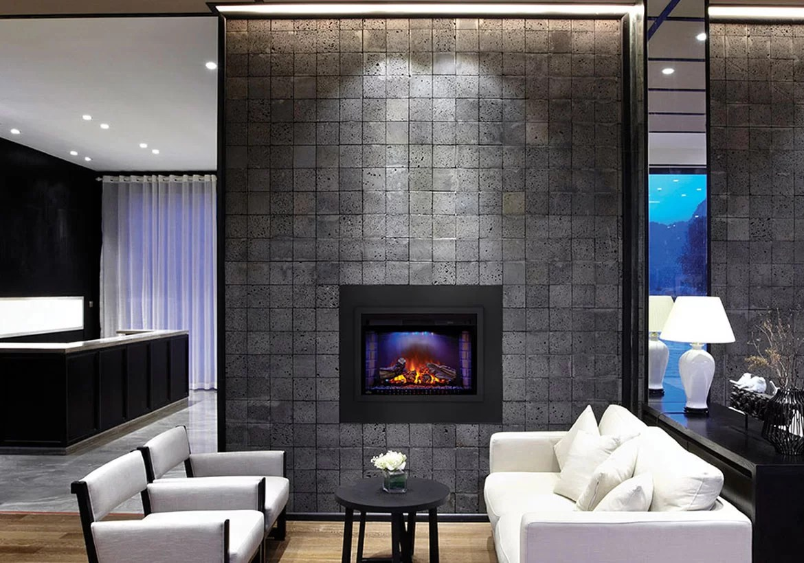 contemporary living room with electric fireplace purple and grey decorating ideas modern fireplaces to warm your soul home remodeling sebring design build