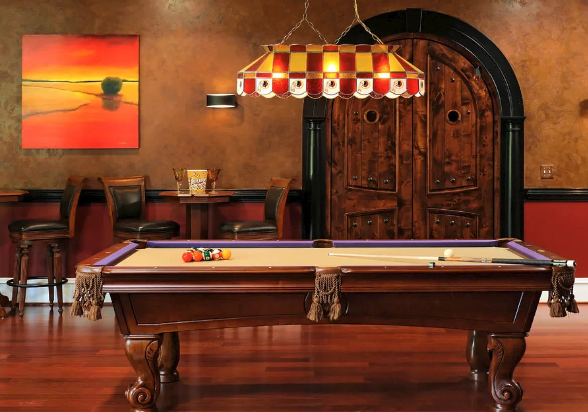 Sara elliott remember the days when people played outside and cooked inside? 49 Cool Pool Table Lights to Illuminate Your Game Room ...