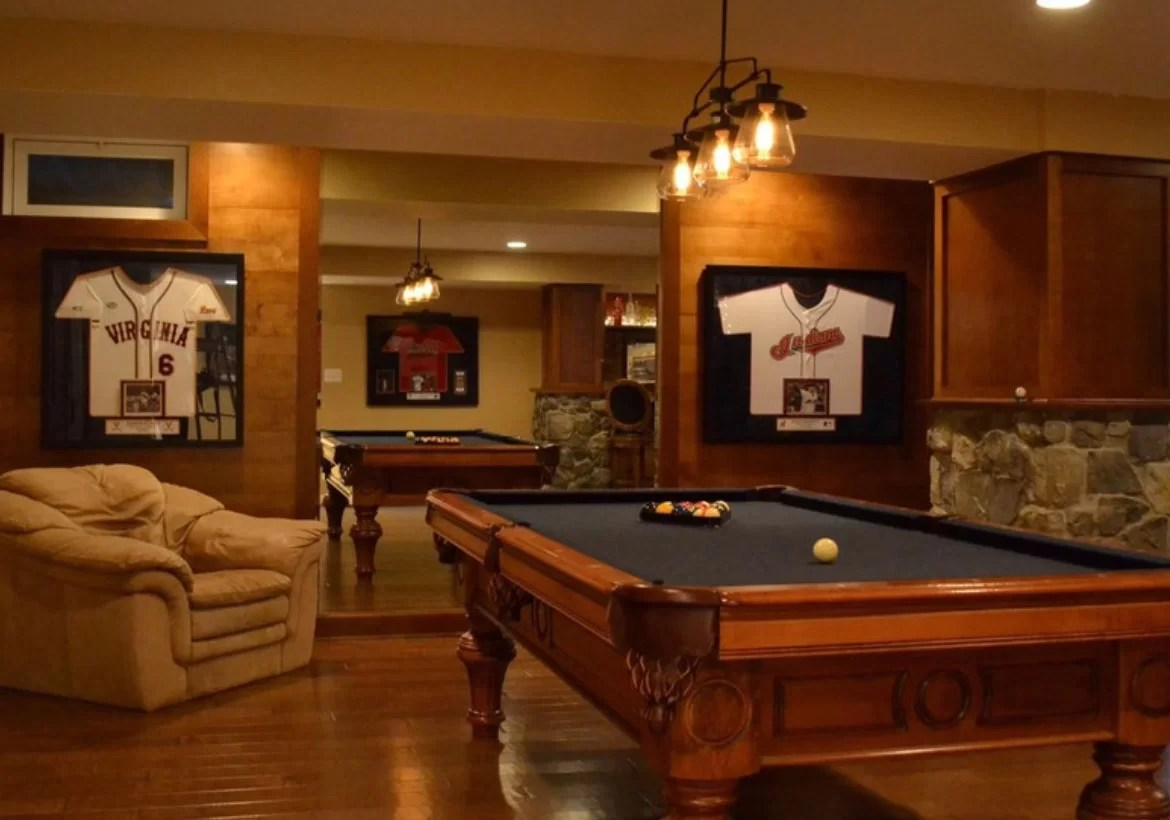 Especially when you're playing said games on a table that transforms from the pool table you're playing on to the dining table you're about to eat on. 49 Cool Pool Table Lights to Illuminate Your Game Room ...