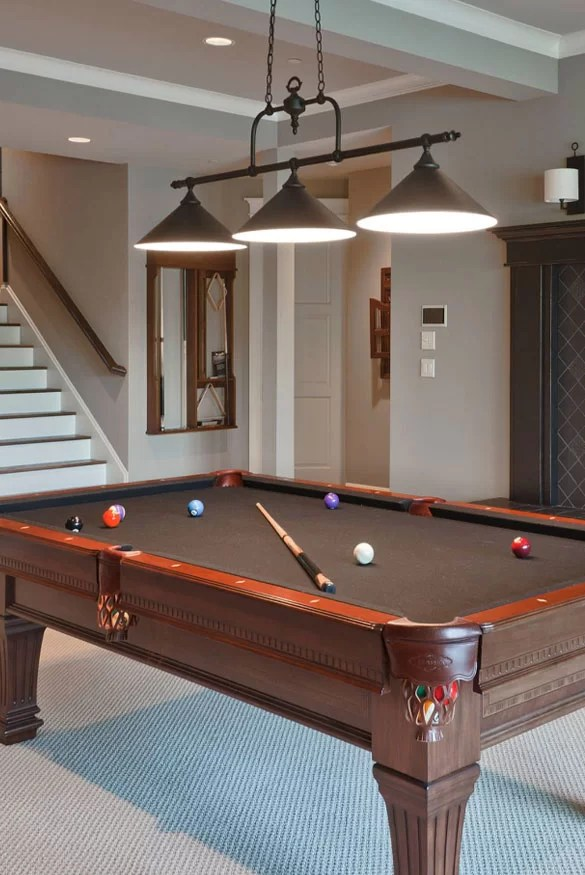 It's important to choose a table that fits the size of your room so there's room for everyone to w. 49 Cool Pool Table Lights to Illuminate Your Game Room ...