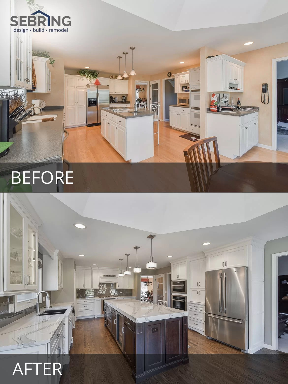 kitchen remodels before and after bench seating for dave cathys pictures home