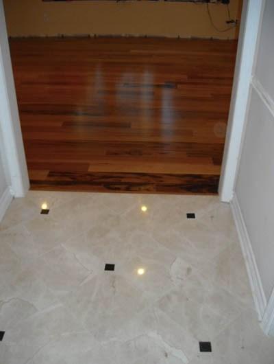 22 Floor Transition Ideas Sebring Design Build Design Trends | Tile To Wood Stair Transition | Stair Nose | Flooring | Porcelain | Builder Grade | Threshold