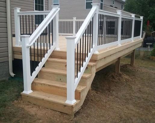 35 Unique Deck Railing Ideas Sebring Design Build | Outdoor Stair Railings Near Me | Porch Railings | Front Porch | Composite | Metal Stair | Stair Treads
