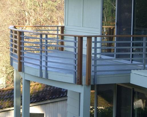 35 Unique Deck Railing Ideas Sebring Design Build   Metal Handrails For Decks   Small Deck   Outdoor   Residential   Metal Rope   Decorative
