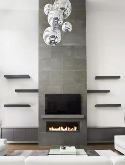 35 stunning fireplace tile ideas