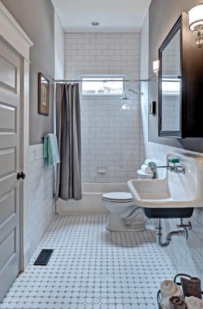 vintage bathroom floor tile designs