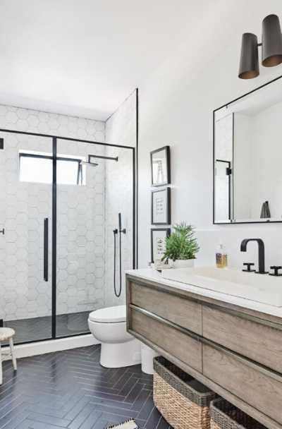 white tile floor