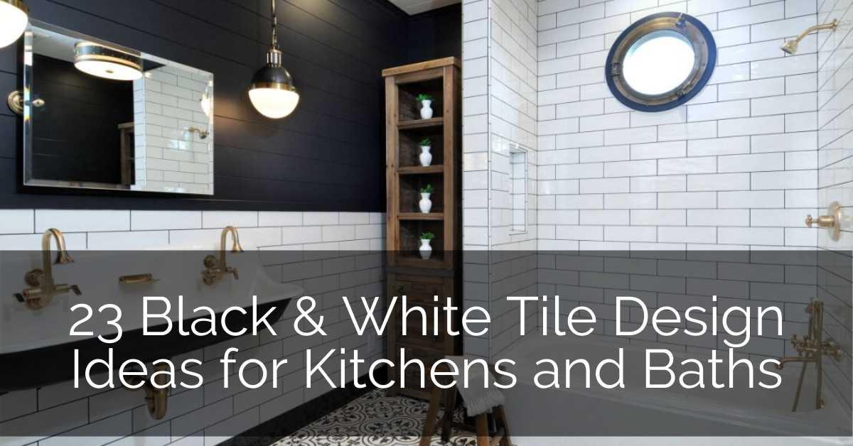 23 black white tile design ideas