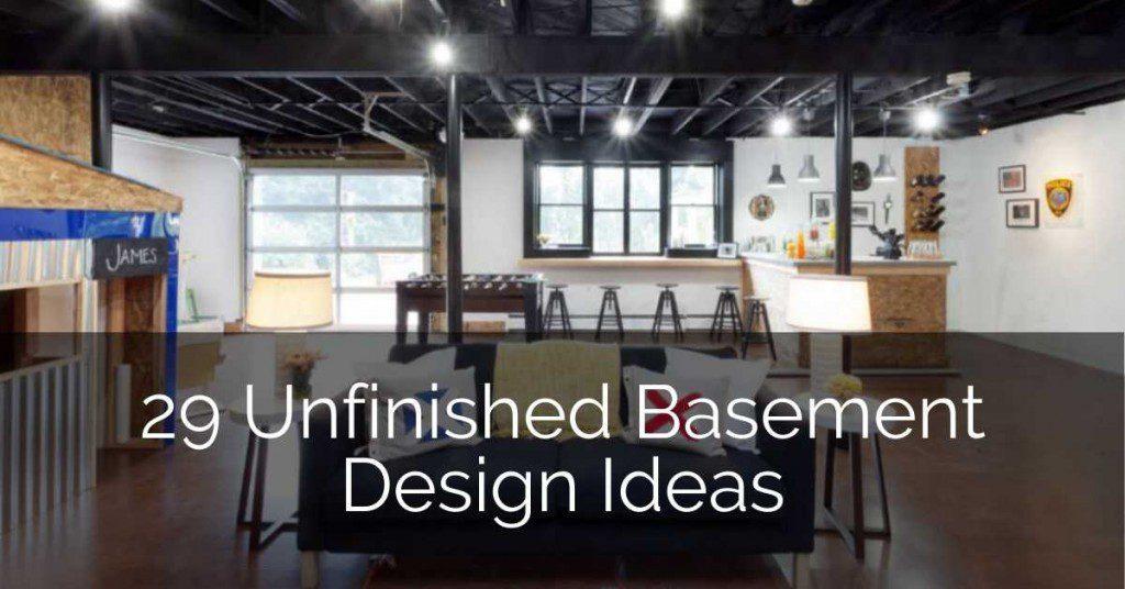 29 unfinished basement design ideas