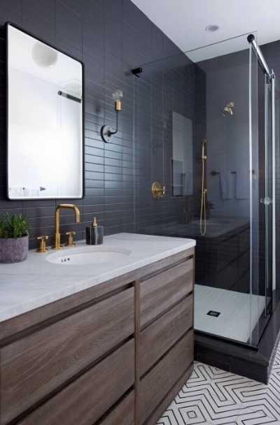 bathroom design black floor tiles bathroom