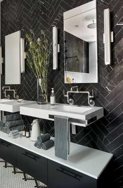 23 black tile design ideas for your